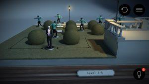Das Spielbrett kann dreidimensional betrachtet werden.