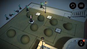 Die Figuren werden nach dem Ausschalten neben das Spielfeld gelegt.