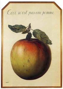 Ceci n'est pas une pomme. René Magritte, 1964